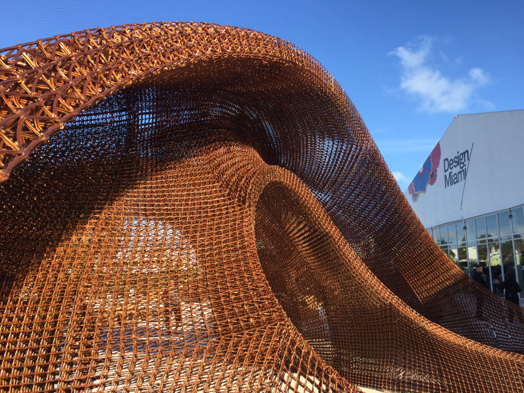 The 3D printed Flotsam and Jetsam pavilion by SHoP Architects. Photo via Branch Technology.