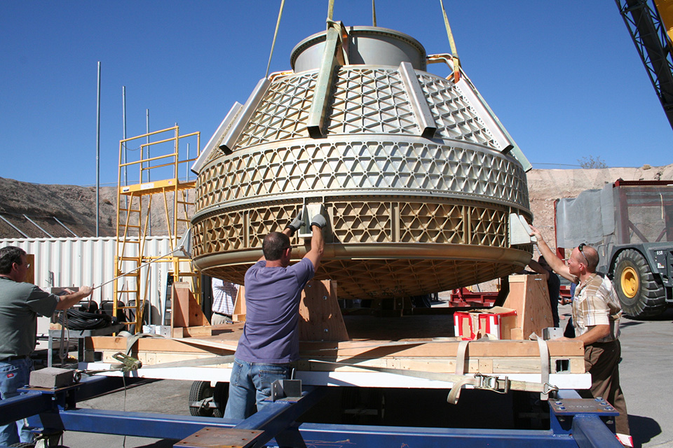 Boeing's Crew Space Transportation (CST) system in construction. Photo via Boeing.