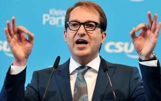 German Federal Minister Alexander Dobrindt. Photo via alchetron.
