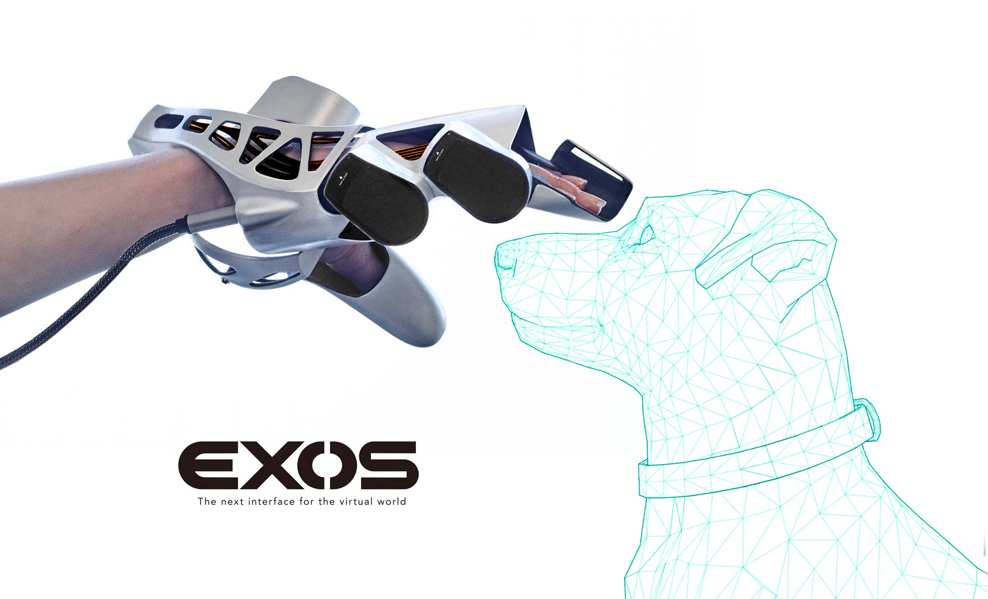 The Exos device will now let you experience touching dogs. Image via Exiii.