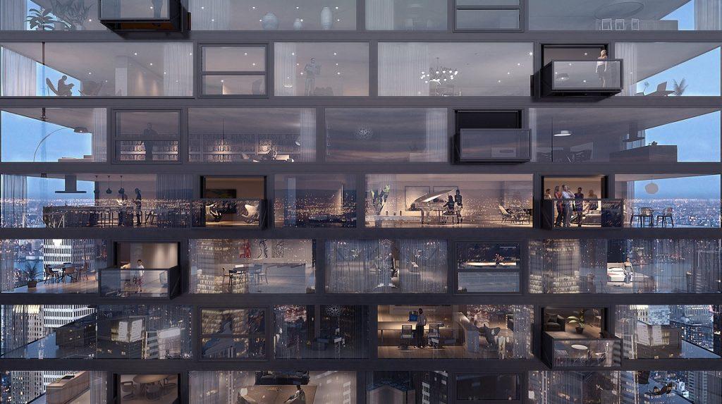 Rendered smart windows of the Arconic skyscraper. Image via: Arconic