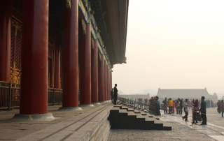 Plinths supporting columns in China's Forbidden City. Image via.