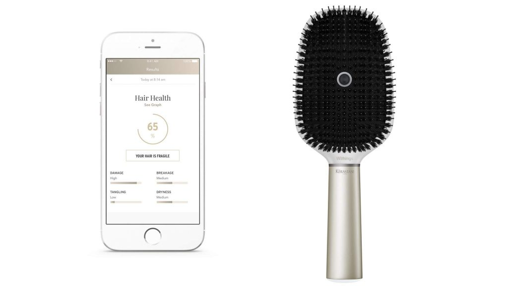 "A ""smart"" hairbrush from CES 2017."