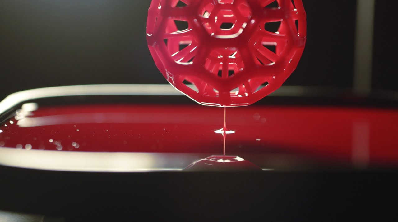 Carbon's CLIP technology uses digital light processing to create 3D objects. Image via Carbon.