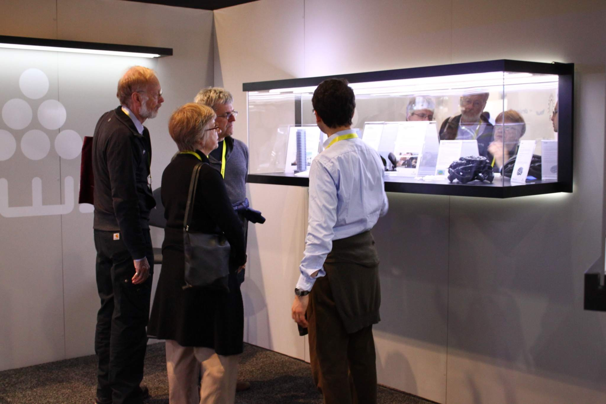 DWS had an enclosed booth at CES which was akin to a 3D printed art gallery. Photo via DWS.
