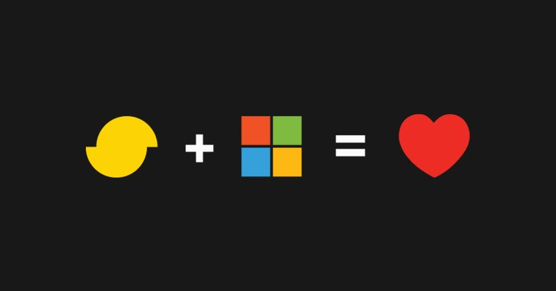 Simplygon plus Microsoft = heart. Image via Simplygon.