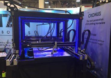 The Cronus 3D printer at CES 2017. Photo via: TitanRobotics3D on Twitter
