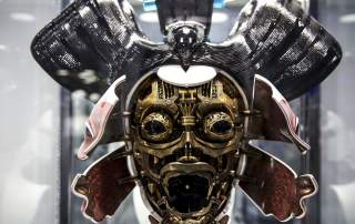 Robo Geisha animatronic mask from Ghost in the Shell, by Weta Workshop. Property of Paramount Pictures.