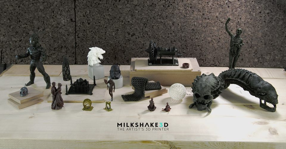 A sample of Milkshake3D prints.