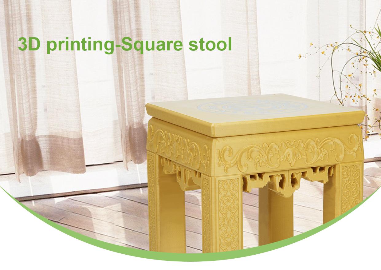 The 3D printed stool. Image via Winbo.