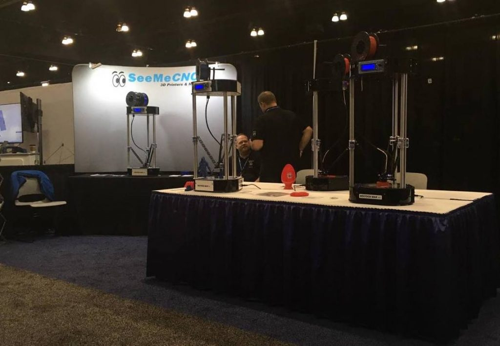 The SeeMeCNC booth at SolidWorks World 2017