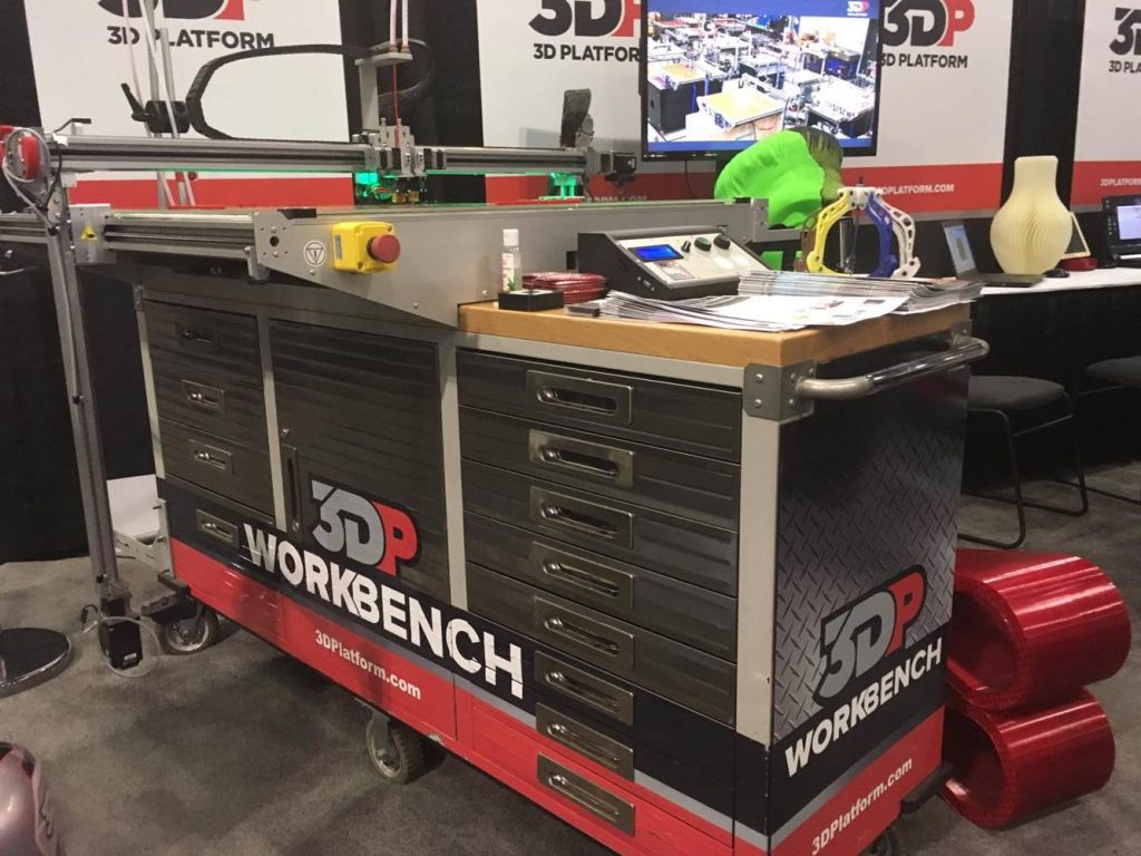 The 3D Platform Workbench at SolidWorks World 2017. Photo by Kirby Downey