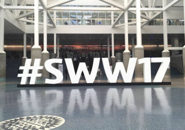 The welcome foyer to SolidWorks World 2017 in LA. Photo by Kirby Downey