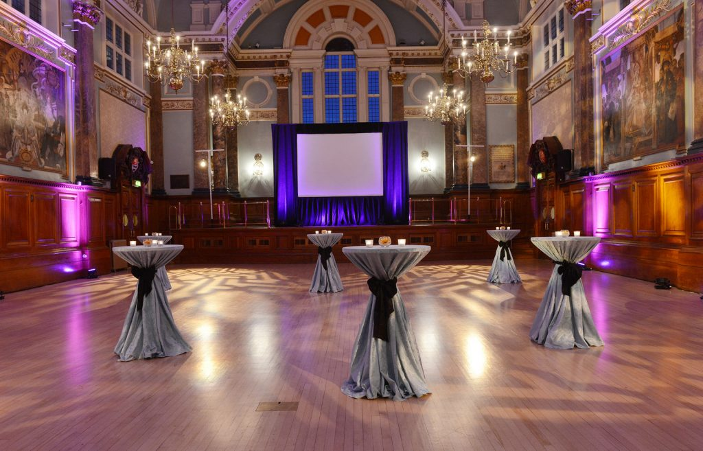 The 3D Printing Industry Awards venue at Chelsea Old Town Hall, London UK.