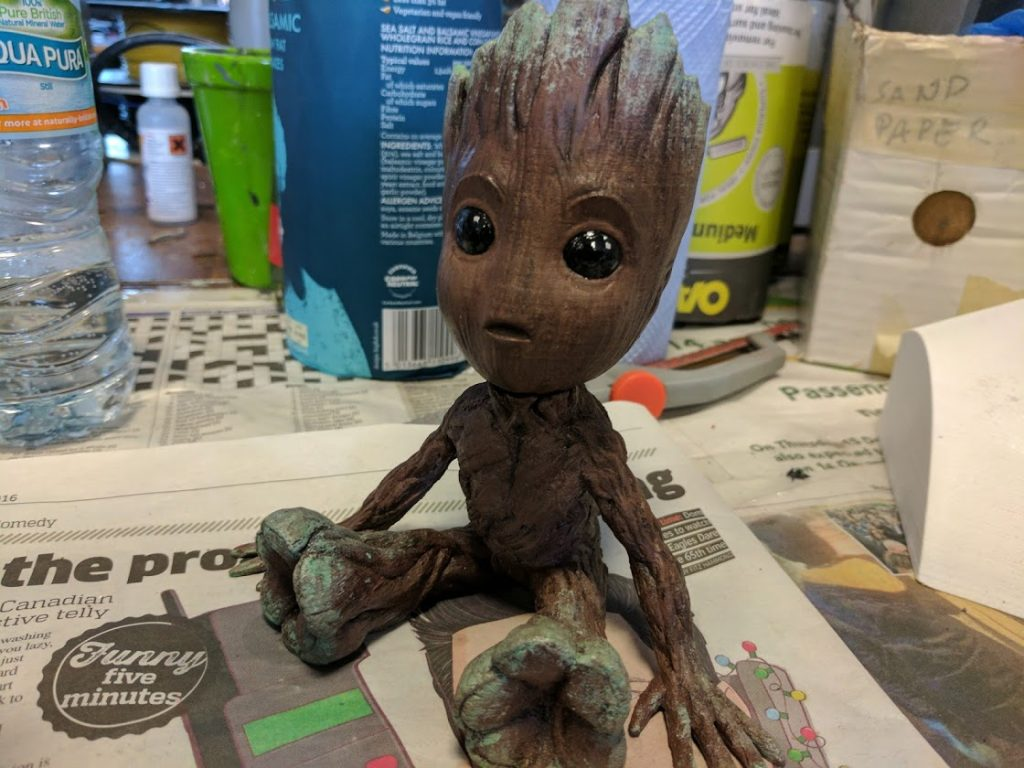 3D Printed Baby Groot. Photo by Michael Petch