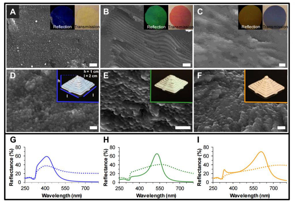 3D printed pyramids and nanostructure. Image via ACS Nano.