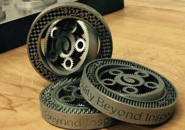 "Planetary Gears 3D printed using PrintRite3D inspection software. Features the motto ""Quality Beyond Inspection"" Photo via @Sigmalabsinc on Twitter"
