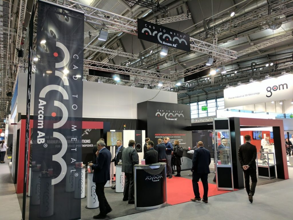 Arcam AB at Formnext. Photo by Michael Petch.