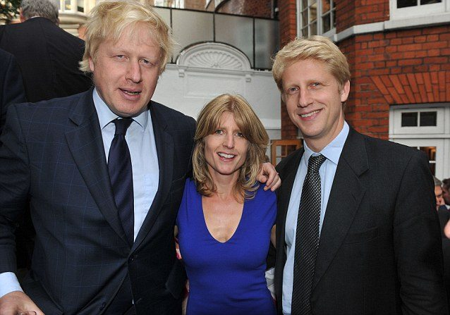 Secretary of State for Foreign and Commonwealth Affairs Boris Johnson, Journalist Rachel Johnson and Minister of State for Universities and Science Jo Johnson.