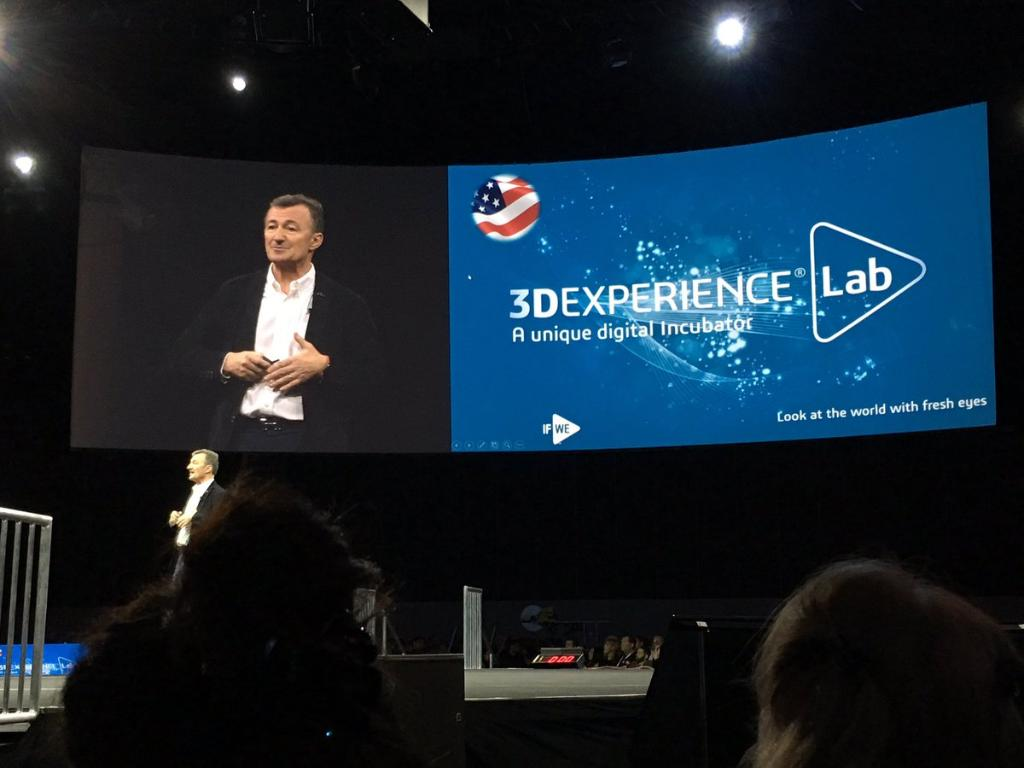 The announcement was made on stage at Solidworks World 2017 by Bernard Charles. Photo via Dassault Systèmes.