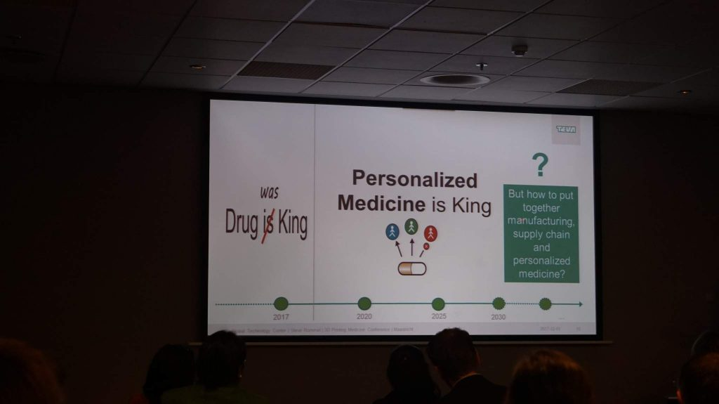 """Personalized Medicine is King"" slide from Steve Rommel, Senior Manager Generative & Advanced Processes of TEVA ratiopharm."