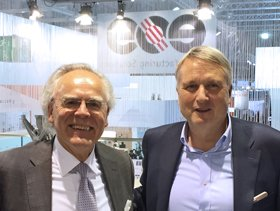Dr. Hans J. Langer, CEO of EOS and Dr. Peter Oberparleiter, CEO of GKN Powder Metallurgy. Photo via GKN.