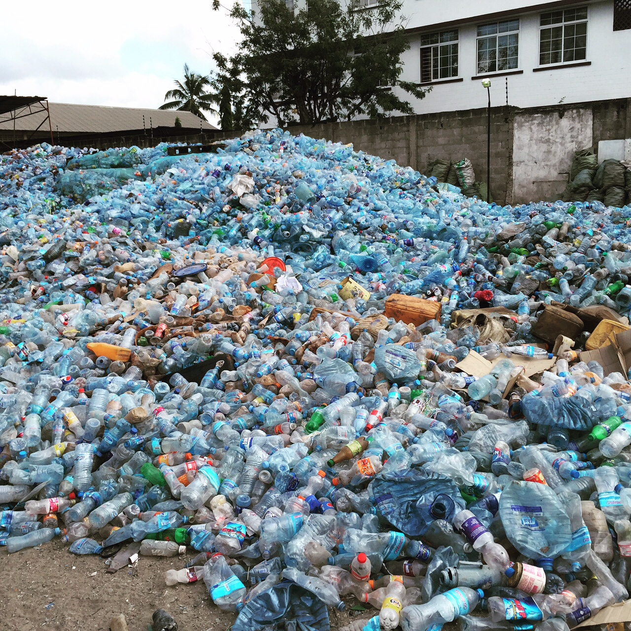 Plastic due to be recycled. Photo via ReFab Dar.