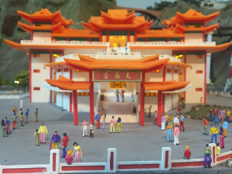 The 3D printed Thean Hou Temple. Photo via MinNature Malaysia.