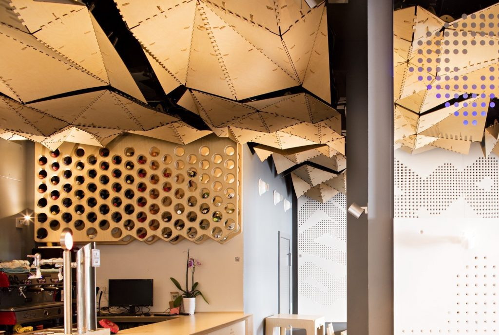 Barcelona Fab Lab designed open-source LEKA Restaurant. Photo via Fab.city