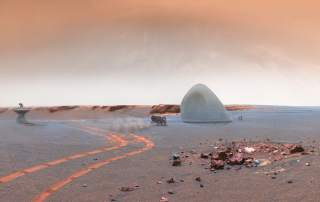 Mars ICE House design for 3D printing a house made of ice on Mars. Image via Mars ICE House.