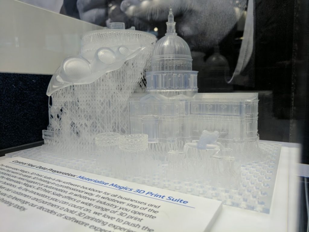 A 3D print created using Materialise Magics 3D Print suite software. Photo by Michael Petch.