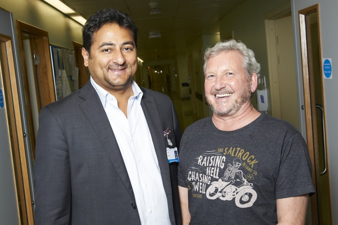 Cardiothoracic surgeon, Ehab Bishay and the patient Edward Evans. Photo via Stratford-Upon-Avon Herald.