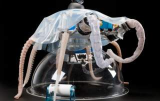 A soft-robotic octopus. Credit to Jennie Hills, London Science Museum.