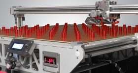 Large scale batch production of cylinders on the 3D Platform Workbench Photo via: 3DPlatform.com