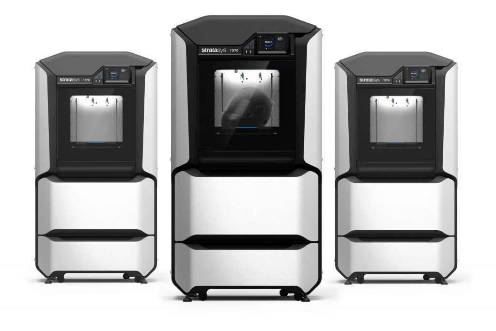 The New Stratasys F123 Series 3D printer.