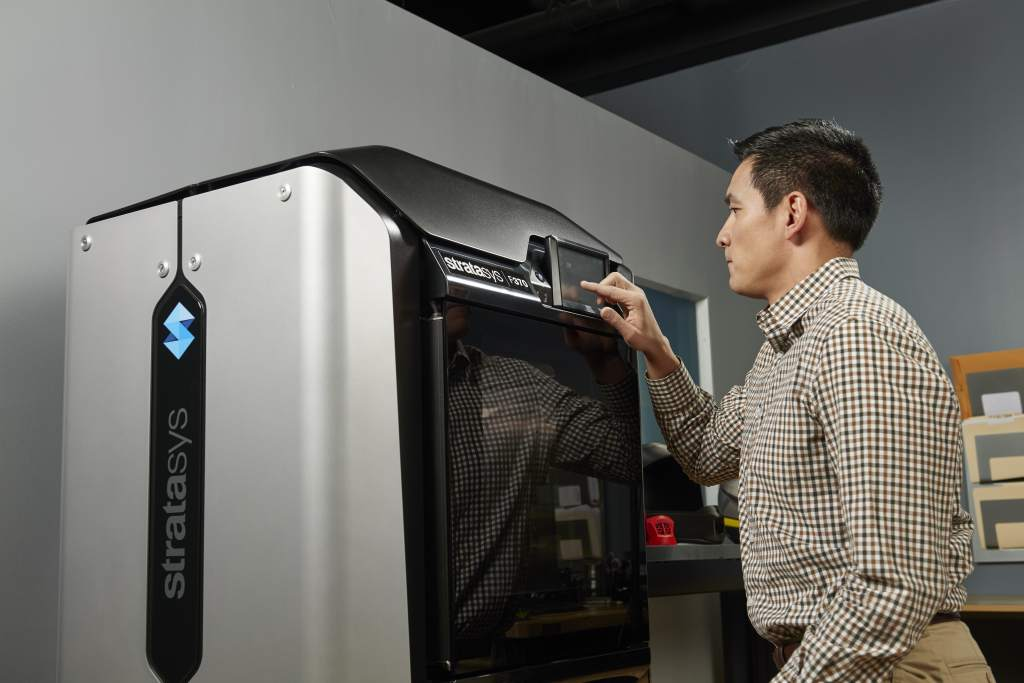 A 3D printer from Stratasys' F123 Series. Photo via Stratasys