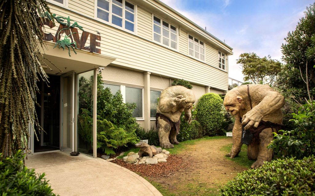 Trolls outside the Weta Workshop Cave in Miramar. Photo via wetaworkshop.com