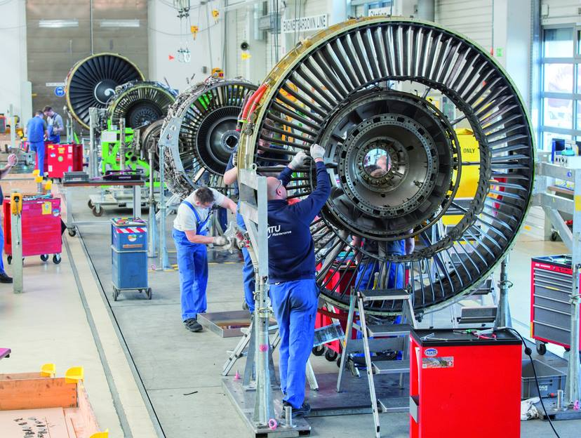 Making aero engines at MTU. Photo via MTU Aero Engines