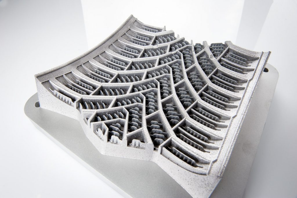 3D printed tire mold segment Photo by SLM Solutions