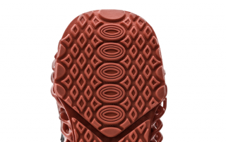 3D printed sole of an Under Armour sneaker, integrated with PostPro3D processing. Photo via Under Armour