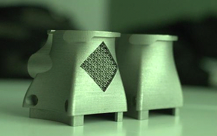 Metal 3D printed exhaust nozzle Photo via Wipro3D