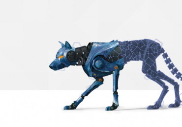 A robot dog model and mesh. Image via MakePrintable