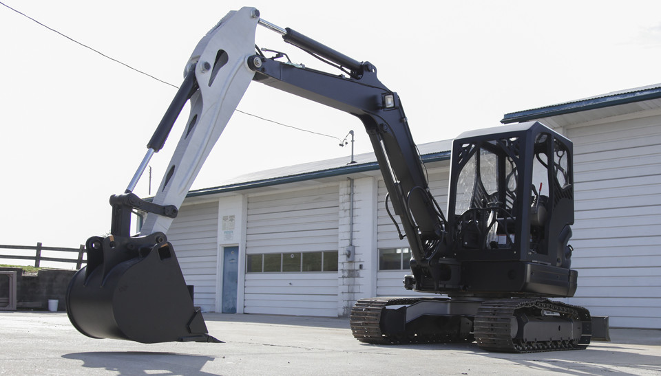 The 3D printed excavator which was developed by Oakridge National Laboratory (ORNL) as part of Project AME. Photo via ORNL.