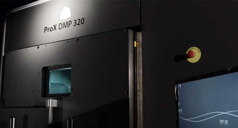 3D Systems ProX DMP metal 3D printing system.