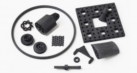 3D printed CBAM parts. Photo via Impossible Objects.