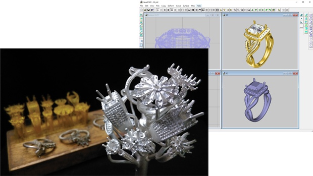 The jewelry application of the Milkshake3D.