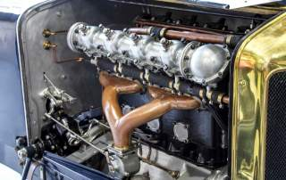 The Delage Type-S engine recreated using 3D printed molds. Photo by Fiona Pepper for ABC Radio Melbourne.