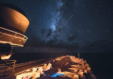 Aircraft, shooting stars and planets seen from the Navy aircraft carrier USS Ronald Reagan (CVN 76) U.S. Navy photo by Mass Communication Specialist 3rd Class Ryan McFarlane/Released