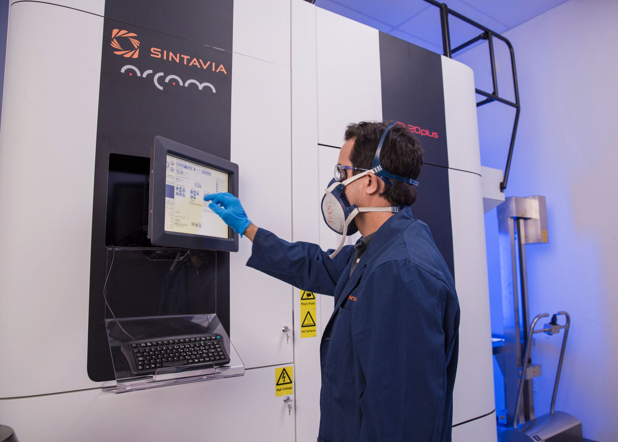 One of Sintavia's Arcam machines. Photo via Business Wire.