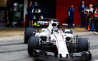 Williams' new FW40 car. Photo via Williams Racing on twitter.